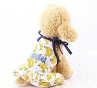 Haustier Hund Kleidung Obst Druck Welpen Kleid Rock Hunde Hund T Shirts Katze Hund Kostüm Banane Erdbeer Ananas Muster Forschnauzer lqpyw923