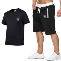 2020 hommes de Nouvelle Marque Designer D'été Imprimer Chemise + Shorts De Sport Hommes À Manches courtes pull avec Casual Jogging Pantalon Ensemble Homme Sportsw