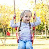 Halat Çocuk Spor Asma Salıncak Sandalye Oyuncak Kapalı Açık Salıncak Sandalye ZZA2352 ile EVA Yumuşak Ayarlanabilir Kurulu Salıncak Koltuk