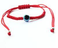 무료 배송 10pcs / lot 붉은 문자열 이블 눈 럭키 레드 코드 조절 팔찌 새로운 선물 DIY