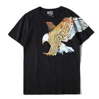 2020 Yeni Tasarımcı T Gömlek erkekler kartal Baskı Kısa Kollu Tasarımcı Gömlek Erkek Moda Yaz T Gömlek Tişörtler Boyut S-XL