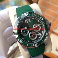 Nouveaux Luxusuhr Mens Montres Montres Green Ceramic Bezel Sport Sport Caoutchouc Sangle De Quartz Sous-catégorie Lumineux Luxusuhr Male Bracelet