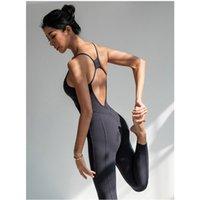 Yushuhua aérea yoga Jumpsuit Mulheres Esporte terno de ginástica Feminino roupas de fitness apertado respirável Sportswear Mulheres Yoga Set