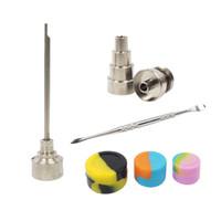 Set di strumenti Bong con tubi in vetro per unghie in titanio da 10 mm 14mm e 14mm con tappo in silicone
