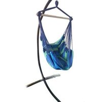 Mode meubels Groothandel Hot Sales Onderscheidende katoenen canvas opknoping touwstoel met kussens blauw
