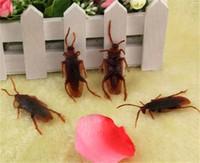 10 개 재미 가짜 바퀴벌레 할로윈 장식 공포 농담 장난 메이커 재미 참신 트릭 시뮬레이션 거짓 바퀴벌레 장난감