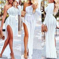 Retro Hot NEW Mulheres Boho Maxi Vestido de Verão 2019 Sexy de Um Ombro Evening Club Party Beach Dresses Assimétrico Solto Vestido