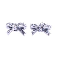 Симпатичные мелкие серьги-ступенчатые серьги для розничной торговли розничная коробка Устанавливает высококачественные 925 стерлинговые серебро девушки CZ Diamond подарок серьги