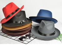 7 colores Fedoras moda femenina primavera y verano Jazz sombrero masculino Sun-shading sombreros para hombres y mujeres Michael Jackson estilo sombrero