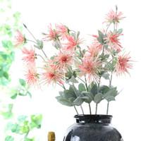 3 Têtes À Longue Tige Fleur Artificielle Chrysanthème Flores Automne Automne Maison Jardin Décoration Faux Soie Fleur