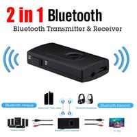 2 in 1 Bluetooth V4.2 trasmettitore ricevitore wireless A2DP stereo da 3,5 mm Audio Adapter Musica per auto TV Telefono PC Y1X2 PC del MP3 MP4