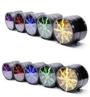 DHL libre del metal del consumo de tabaco Molinillos de hierba de aleación de aluminio de 63 mm de claro ventana de arriba Iluminación amoladoras de afilar 3 estilos 15 colores FY2144