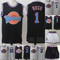 Mens Tune Esquadrão Space Jam filme Jersey 1 Pernalonga 2 Daffy Duck 1/3 Piu-Piu 10 Lola Bunny 100% costurado Basketball Jerseys