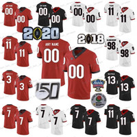 NCAA Georgia Bulldogs Jerseys Jake Fromm Jersey D'Andre Swift Todd Gurley II Sony Michel Zamir Branco College Football camisas personalizadas Stitche