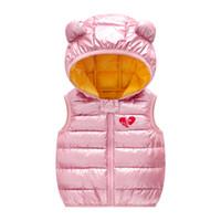 Kinder Daunen Baumwollwesten Herbst Winter Kleinkind Kleidung Kinder Warme Oberbekleidung Mäntel für Baby Jungen Mädchen 1-5 Jahre Weste