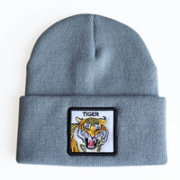 Animal Beanies Tiger Elephant Embroidery Winter Hats For Men...