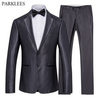 Blazer+ Pants 2 Pieces Suit Set Men Fashion Business Smart Ca...