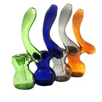 Glass Pipes With Stand Ash Catcher 7 Colors Tobacco Hand Pip...