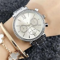 36mm Luxury Women' s Girls crystal Fake 3- eye Dials styl...