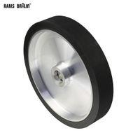300 * 50mm Katı Kuşak Öğütücü İletişim Tekerlek Dinamik Dengeli Lastik parlatma diski Aşındırıcı Zımpara Bant Seti