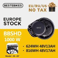 """Bafang moteur de la BBSHD 1000w BBS03 26"""" batterie crémaillère 700c arrière à mi moteur d'entraînement Kit de conversion vélo électrique avec la batterie 1000w"""