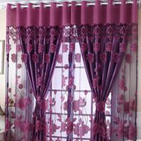 Blume Tüll Tür Fenster Panel schiere drapieren Blume Volant Blackout Vorhang Home Decor Vorhänge Ebenen für Keller Tülle stilvoll