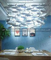 Personalizzabile Bencher semplice moda creativa di ceramica Lampade Sala da pranzo Lampadario Pesce llighting decorazione luci lampada Pesci
