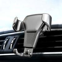 Universal Autotelefonhalter Leder Gravity Car Bracket Air Vent Stand Mount für iPhone 8 XS XR Samsung Unterstützung Telefon Voiture