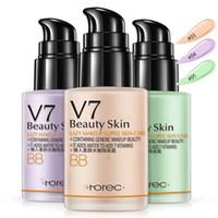 V7 Loção preguiçoso BB CC Creme Hidratante Natural Makeup Concealer Cosmetic fundação 30ML Waterproof 3 cores