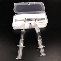 1мл Pyrex Glass Шприц Vaping намоточные Jig инструмент с иглой для 92a3 AC1003 A9 Мобильные тележки Co2 густого масла Пластиковая коробка Упаковка