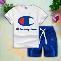 CHMP Childrens Sets 1- 7T Kids 8 Colors T- shirt And Short Pan...