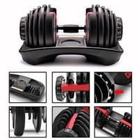 Регулируемые гантели 5-52.5lbs фитнес тренировки гантели весовые построить тон сильных мышц спортивное снаряжение много на складе