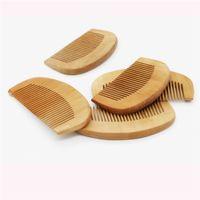 Naturale largo del dente Peach legno non-statico di massaggio dei capelli mogano legno pettine in legno di massaggio dei capelli può incidere logo