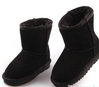 Vente chaude-vente Marque Chaussures Chaussures Filles Bottes D'hiver Chaud Cheville Toddler Garçons Bottes Chaussures Enfants Bottes De Neige En Peluche Chaussures Chaudes