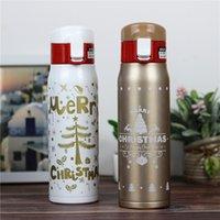 12oz / 17oz Weihnachten Edelstahl Wasserflasche Vakuum Isolierflaschen Thermosbecher Umweltfreundliche tragbare Tassen Weihnachten Neujahr Geschenk
