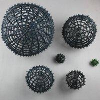 5-30 cm DIY Yuvarlak Top Kalp Çiçek Baz Raf Plastik Yapay Çiçek Aksesuarları DIY Ipek Çiçek Düğün Ev Partisi Dekor Için Çerçeve