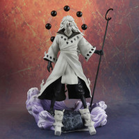 Anime Naruto 3 cabezas Uchiha Madara Actuación Figura Rikudo Sennin PVC Modelo Modelo Estatua de Juguete Regalo de cumpleaños Colecciones de decoración 1125G MX200319