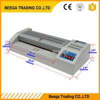 """Marco de metal 110 / 220V A4 / A3 12.5 """"320mm HOT + HOT + Frío Máquina de laminación térmica de la bolsa de la bolsa del laminador del laminador Equipo de oficina"""