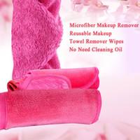 الجملة 5 ألوان قابلة لإعادة الاستخدام ستوكات المرأة الوجه القماش مزيل ماكياج قابلة لإعادة الاستخدام منشفة مناديل تنظيف غسل منشفة