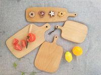 Ahşap Kesme Tahtaları Meyve Tabağı Bütün Ahşap Doğrama Blokları Kayın Pişirme Ekmek Kurulu Aracı Hiçbir Çatlama Deformasyon dekorasyon aracı