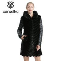 SARSALLYA Doğal Vizon Ceket Ceket Kadının Kış Ceket Ayrılabilir Deri Gerçek Kürk Kadın Giyim Palto Kadın