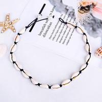 Art und Weise Shell Kragenchoker Mädchen Boho Seashell Halskette Classic Lady Perlenkette im Freien Sommer-Strand-Frauen-Schmucksachen TTA1390-14