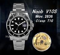 NoobF Fábrica Top Assista V10 Edição Fecho T1G 904L aço 116610 116610LN Preto ETA cerâmica 2836 Cal.3135 Relógios Movimento automático Mens