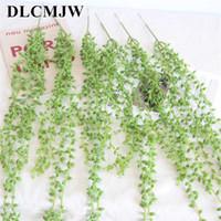1pcs plantas artificiais planta de plástico verde deixa Garden Home Decoração grama artificial planta Falso folhas de videira verde