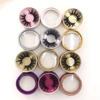 3D Mink Wimpern mit runden Funkeln Box 100% handgemachtes reales Nerz 15mm 18mm 20mm Lashes Accept Private Label