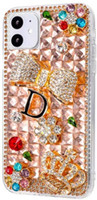 pour iPhone 12 cas 3D Bling Glitter Cas brillant cristal strass diamant cas pour Iphone 11 Pro Max Xr 8 7 Samsung S20 Note 20