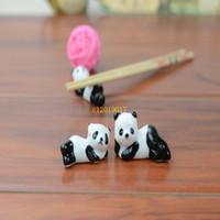 200 Parça Seramik Panda Çubuklarını Standı Tutucu Porselen Kaşık Çatal Bıçak Istirahat Raf Restoran Masa Danışma Dekor