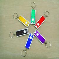 Mini LED Zaklamp Sleutelhanger Tetris Zaklamp Licht Hanger Sleutel Gesp Plastic Creatieve Universele toetsen Ring Aanpassende LXL747-1