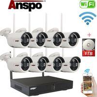 Kablosuz Güvenlik Kamera Sistemi 8CH HD 1080P 1TB HDD CCTV WIFI Kiti NVR Açık