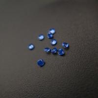 225/3 Bonne Qualité haute température Résistance Gems Nano synthétique Violet Gemstone Facet Round Medium Sapphire 1000pcs / Lot